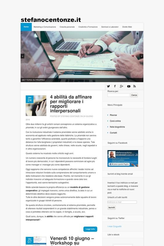 www.stefanocentonze.it